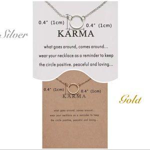 """18"""" Goldtoned or Silvertoned """"Karma"""" Necklace"""